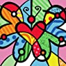 "Colour Talk DIY Oil Painting, Paint by Number Kits for Kids - Abstract Colorful Butterfly 8""X 8""."