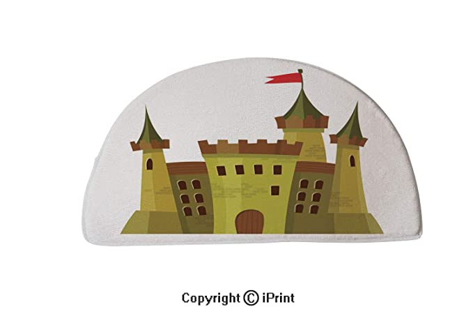 """Kitchen Bathroom Non-Slip 24x16/"""" Rainbow Castle Scenery Bath Door Mat Doormat"""