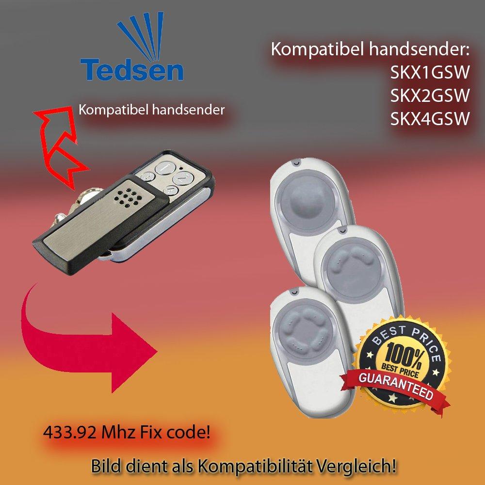 Handsender 433,92 MHz f/ür TEDSEN SKX1LC SKX2LC SKX4LC Antriebe SKX3LC