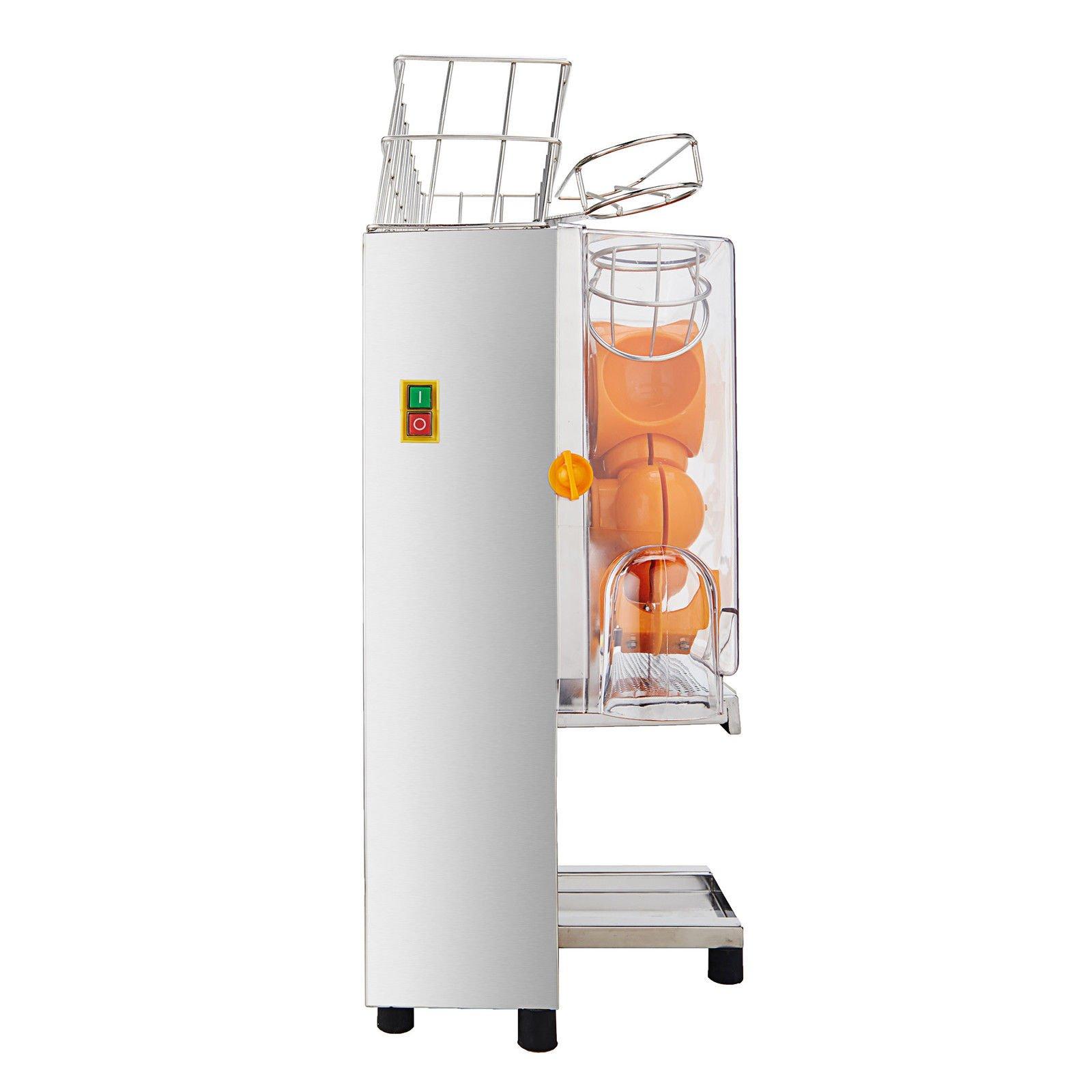 Happybuy Orange Juicer Orange Squeezer Machine Citrus Juicer Electric Fruit Juicer Machine Citrus Lemon Lime Automatic Auto Feed Commercial (Stainless Steel tank) by Happybuy (Image #3)