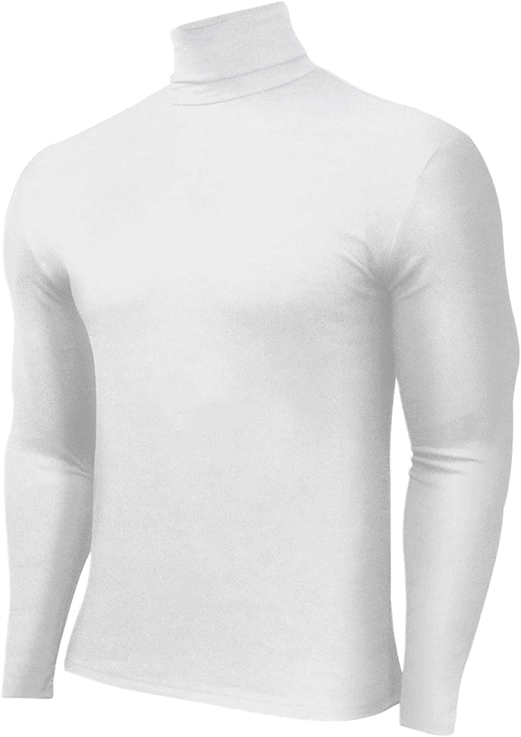 HTB Mens 1-2 Pack Long Sleeve T Shirts Slim Fit Cotton Pullover Base Layer Tops