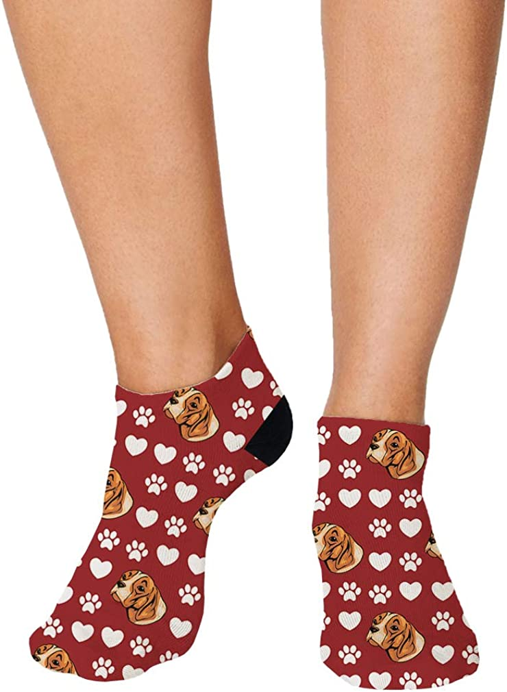 Braque Saint Germain Dog Red Pattern Men-Women Adult Ankle Socks