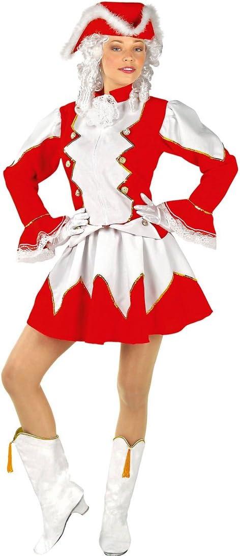 Amakando Disfraz Bastonera - M (ES 40/42)   Vestido Majorette Rojo ...