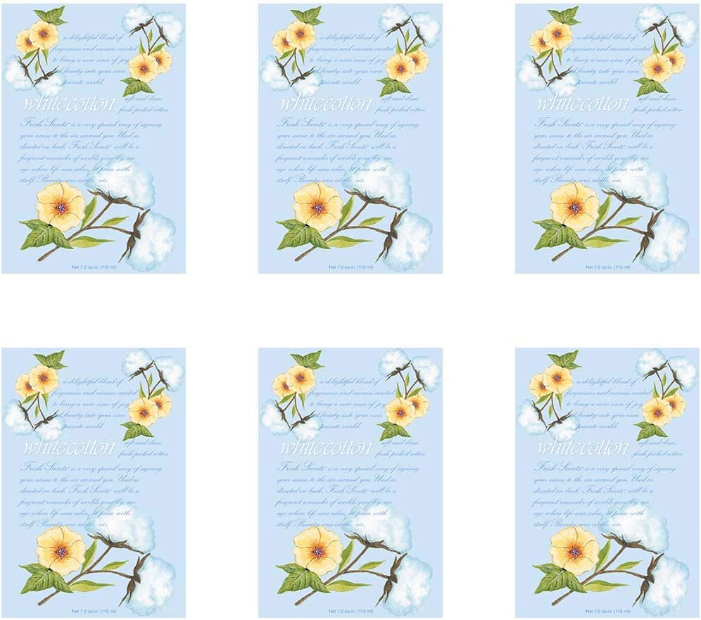 WILLOWBROOK Fresh Scents Scented Sachet - White Cotton, 6-Pack