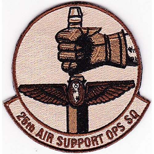 25th Air Support Operations Squadron Desert Patch Hook And Loop -