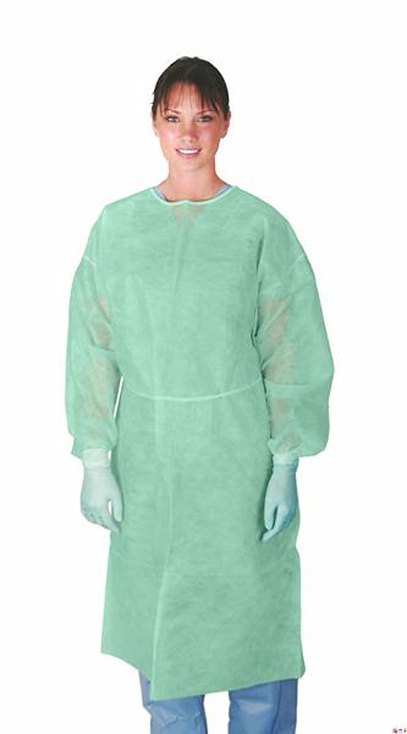 Nobles Disposable Isolation Gown Size: Universal Qty: 50 per Case (Green)