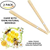 Beez 100% Natural Beeswax - Lower Smoke Cones vs Paraffin Cylinder Candles - Beeswax Candling Cones 2 Candle Pack