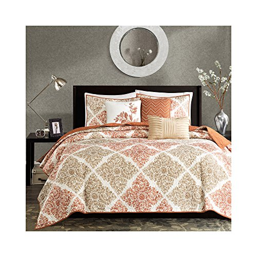Madison Park Claire 6 Piece Quilted Coverlet Set, King/Ca...