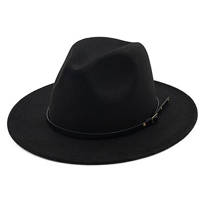 Lisianthus Women Belt Buckle Fedora Hat Black at Amazon Women s ... 8e774ff397aa