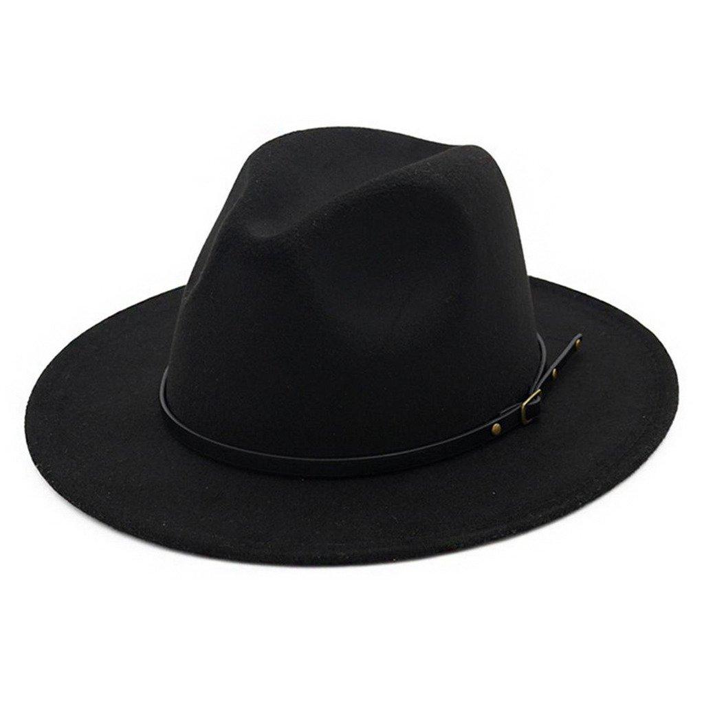 ویکالا · خرید  اصل اورجینال · خرید از آمازون · Lisianthus Women Belt Buckle Fedora Hat Black wekala · ویکالا