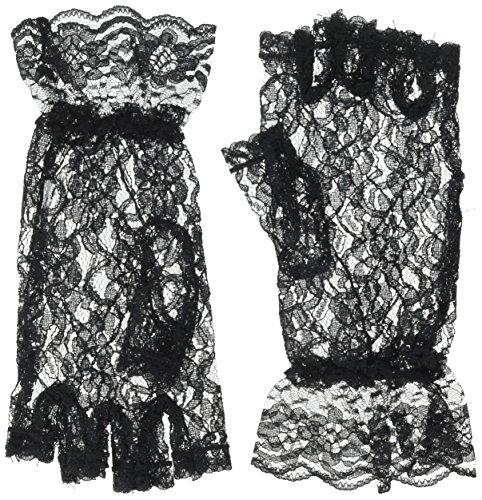 Dressy Black Fingerless Lace Glove for Halloween; Parties; Dress Up; Weddings ()