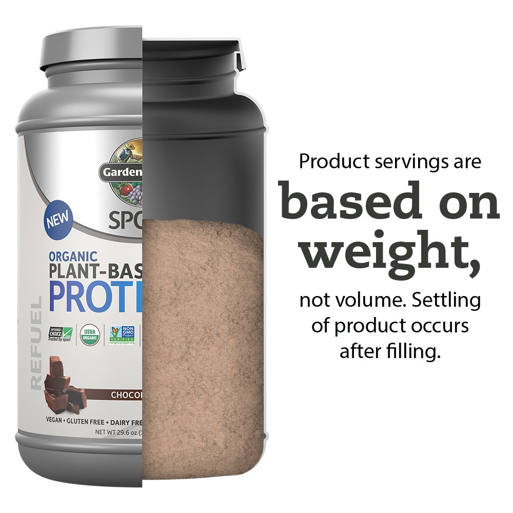 Garden Of Life Sport Organic Plant-Based Protein - BCAA Amino Acid Protein Powder, Chocolate 29.6oz (1lb 14oz/840g) Powder