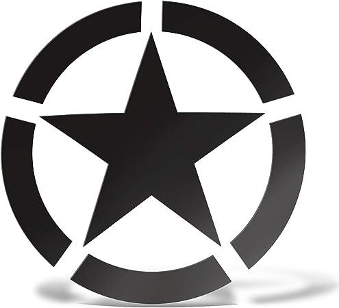 Erreinge Sticker Star Militär Black Army Schriftzug In Pvc Wandwand Aufkleber Für Helm Auto Moto Camper Laptop 10 Cm Baumarkt