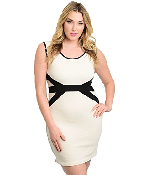 Alight Plus Size Cream Modern Design Dress At Amazon Womens