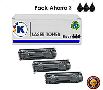 K Pack Ahorro. 3 Toner impresora Canon i-SENSYS MF217W ...