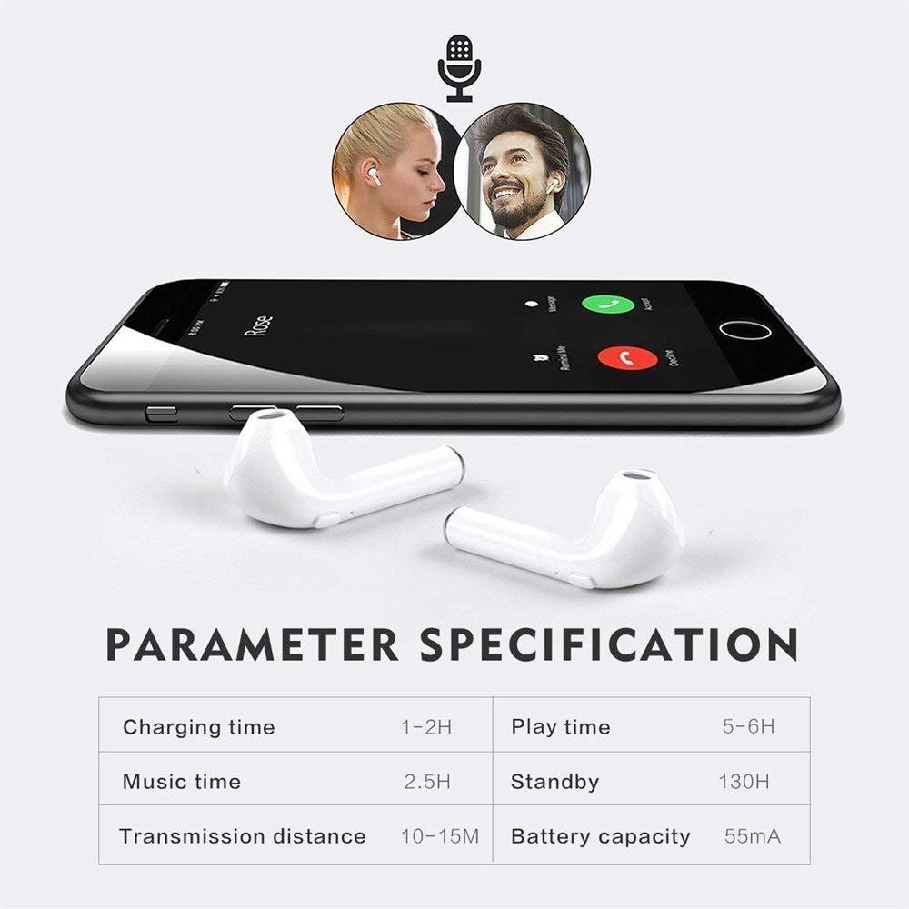 Binaurale Headset f/ür Apple Airpods iPhone Android Bluetooth Kopfh/örer5.0 Funk In-Ear-Ohrh/örer Anzeige der Batterie in Echtzeit