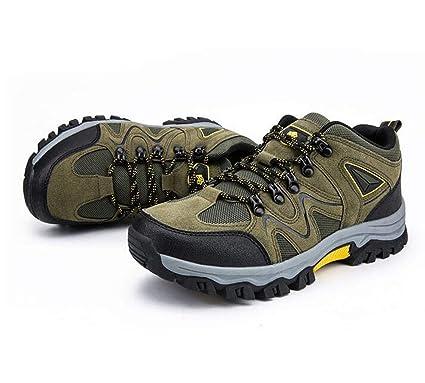 6e423ea80744d Amazon.com: FGSJEJ Men's Hiking Walking Shoes, Scrub Leather ...