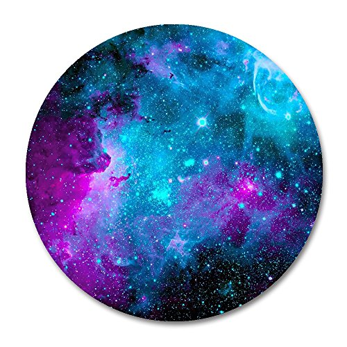 Galaxy Round Mouse Pad by Smooffly,Blue Purple Galaxy Customized Round Non-Slip Rubber Mousepad Gaming Mouse Pad 7.87X7.87 inch