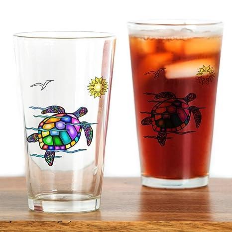 8c3b348cbf2 CafePress Sea Turtle #1 Pint Glass, 16 oz. Drinking Glass