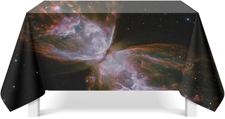 Beydodo Mantel Comedor Poliéster Mantel Mesa Rectangular Hule Galaxia Negro Estilo 4 Manteles Mesa 85x85CM