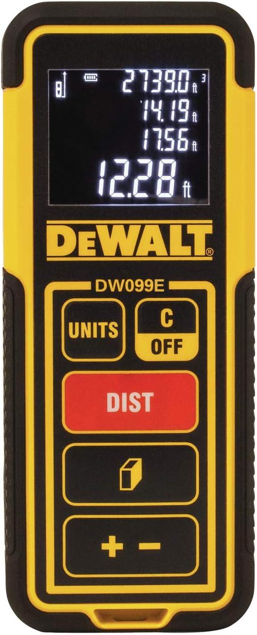 DeWalt DW099E medidor de distancia láser de 99 pies