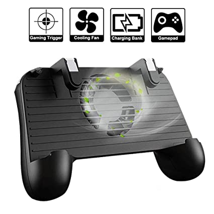 Stonx Pub-G Mobile Game Controller, 4-in-1 Upgraded Version Gamepad with  Cooling Fan, Shoot and Aim Mobile Trigger Joystick for 4 to 6 5