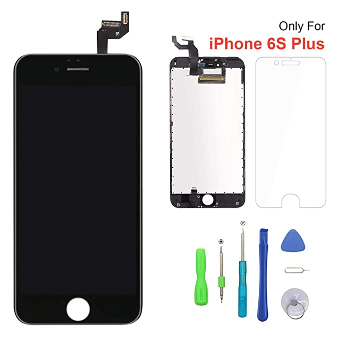 buy online c4b1e 5a96b Screen Replacement for iPhone 6s Plus Black 3D Touch Screen LCD Digitizer  Replacement Frame Display Assembly Set with Repair Tool Kits(6s Plus, Black)