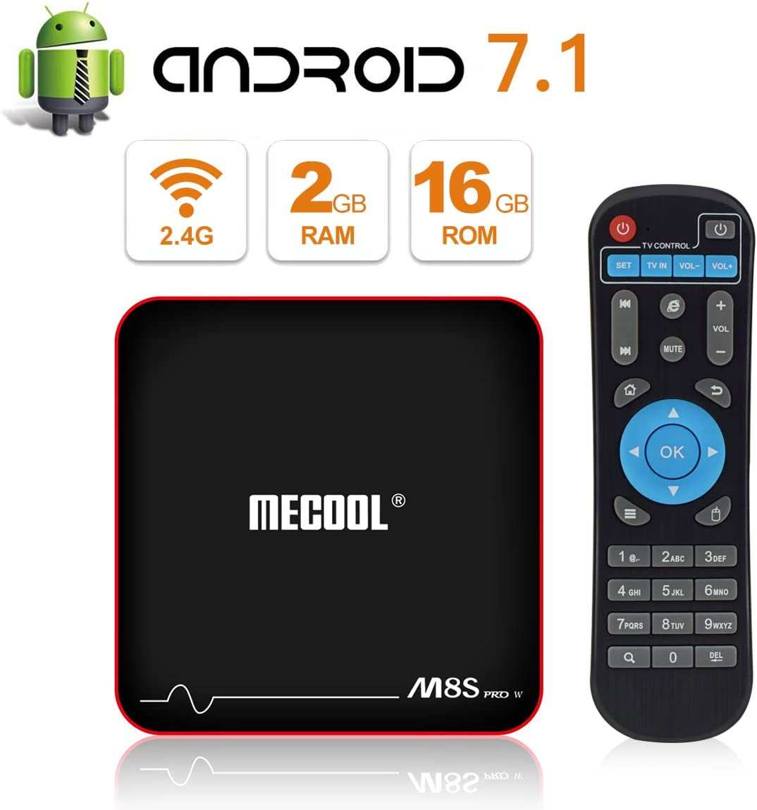 MECOOL M8S Pro W TV Box Android 7.1.2 with 2GB RAM/16GB ROM ...