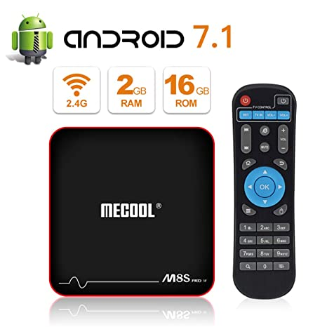 Amazon.com: MECOOL M8S PRO W Android 7.1.2 TV Box with 2GB RAM 16GB ROM Amlogic S905W Quad core, Best Android UI,HD 4K Internet Media Players: Electronics