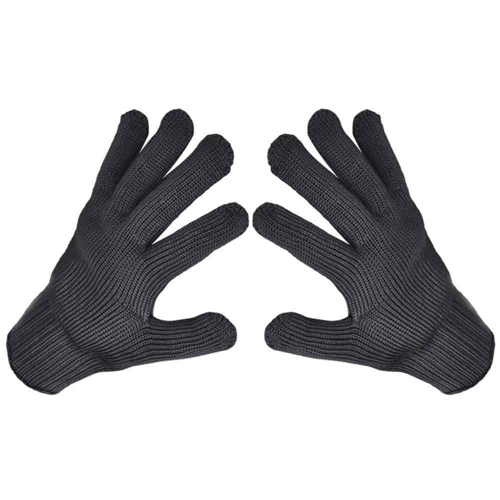 Whiie891203 Guantes de Invierno c/álidos Resistentes Color Negro 1 par de Guantes de Malla de Alambre de Acero Inoxidable Anti Cortes