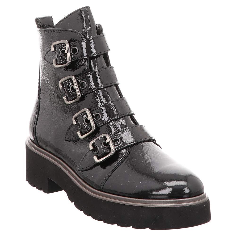 Paul Grün 9395-013- Damenschuhe modische Stiefelette, Schwarz, Leder (knautschlack), absatzhöhe absatzhöhe absatzhöhe  40 mm b5d420