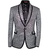Cloudstyle Men's 2 Piece Suit Single Breasted One-Button Shawl Collar Tuxedo Pants Set