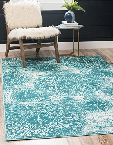 Unique Loom Sofia Collection Traditional Vintage Turquoise Area Rug (5' x - Turquoise Rugs Area