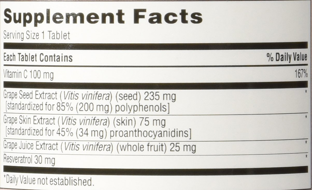 TruNature Grape Seed & Resveratrol - 2 Bottles, 150 Tablets Each by TruNature (Image #2)