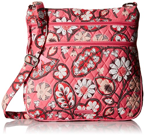 Vera Bradley Triple-Zip Hipster Cross-Body Bag - Blush Pi...