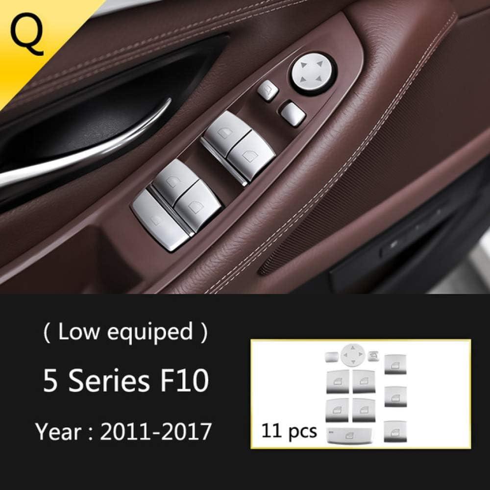 Piaobaige Zubeh/ör f/ür BMW 5er F10 F18 2011 17 Auto Innenschaltklimaanlage CD-Panel T/ür Armlehnenabdeckung Verkleidung Autoaufkleber