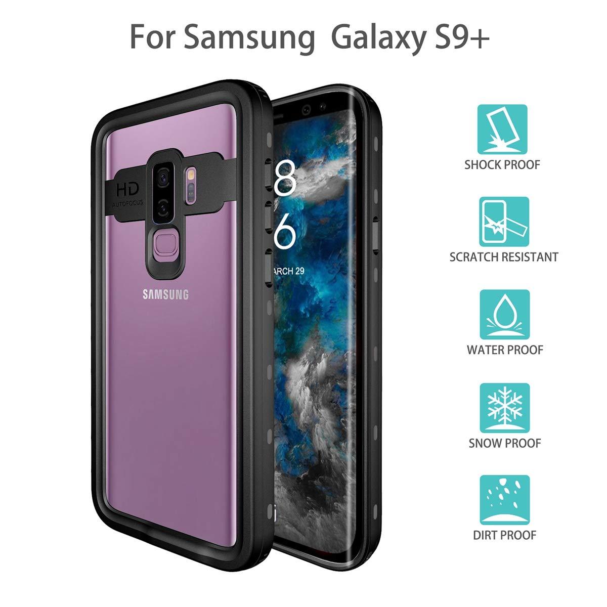 Galaxy S9 Plus Custodia Impermeabile, IP68 Antiurto Waterproof Custodia Schermo Incorporato, Prova Caduta Robusta, Protezione Prova Polvere Case per attività Protezione Prova Polvere Case per attività adorehouse 2550-4T-500