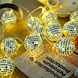 20 LED Disco Ball LED Party Light String Decorative lanterns for Holiday Wall Window Tree Decorative Party Yard Garden Kids Bedroom Living Dorm Uses