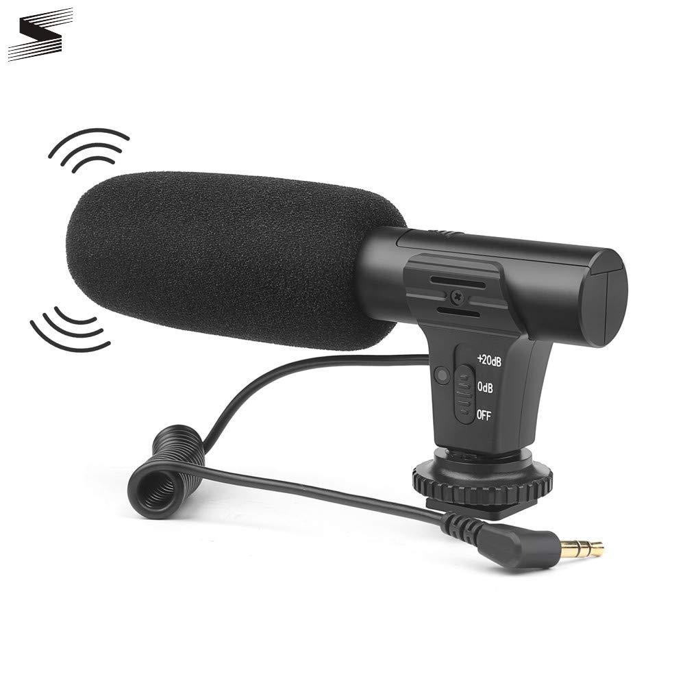 YUANYUAN520 Micrófono Micrófono De Condensador Estéreo Externo ...