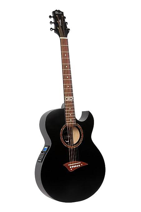 Lindo ORG-SL - Guitarra electroacústica (con preamplificador y afinador integrados, con accesorios