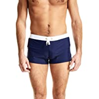 JEKAOYI Men's Quick Dry Swim Trunks Boxer Brief Swimsuit Underwear Swimming Boardshorts with Pocket