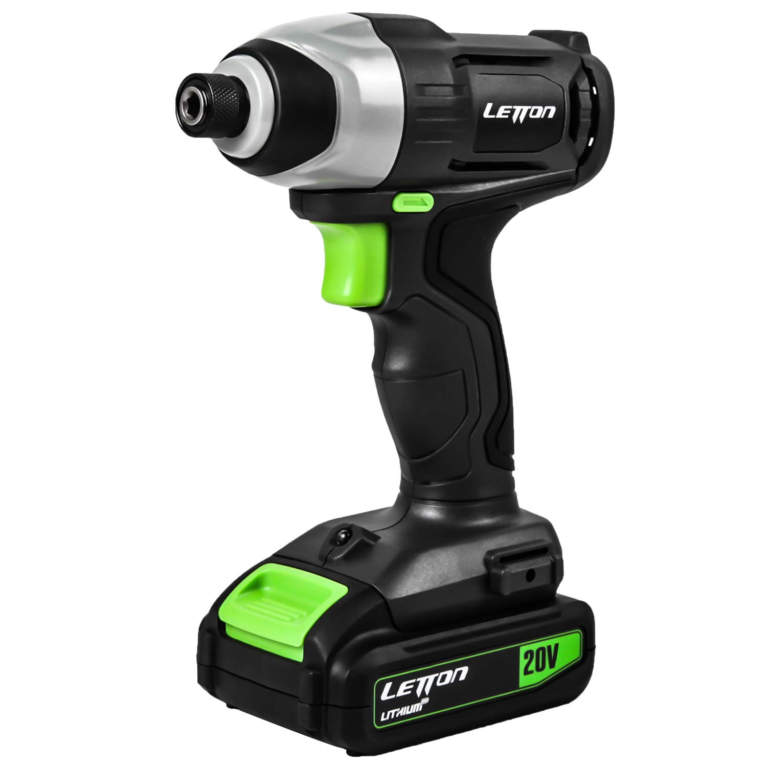 LETTON 20V Cordless Impact Driver MAX Lithium with Variable Speed 0-2800 RPM for Home Improvement and DIY Project