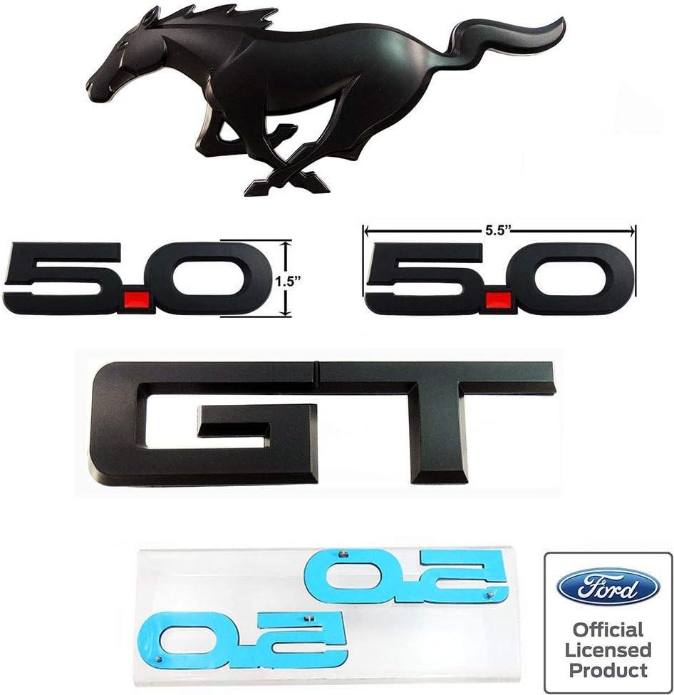 NEW 2015-17 MATTE BLACK BLUE 5.0 FENDER BADGE EMBLEM FOR GT F-150-2 PCS