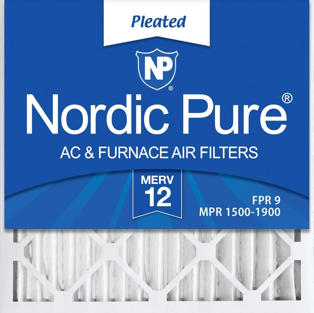 Nordic Pure 25x25x2 MERV 14 Pleated AC Furnace Air Filters 25x25x2 3 Pack