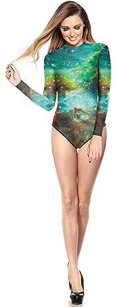4e187009501f1 THENICE Damen Lange Ärmel Badeanzug Bikini (aurora): Amazon.de ...