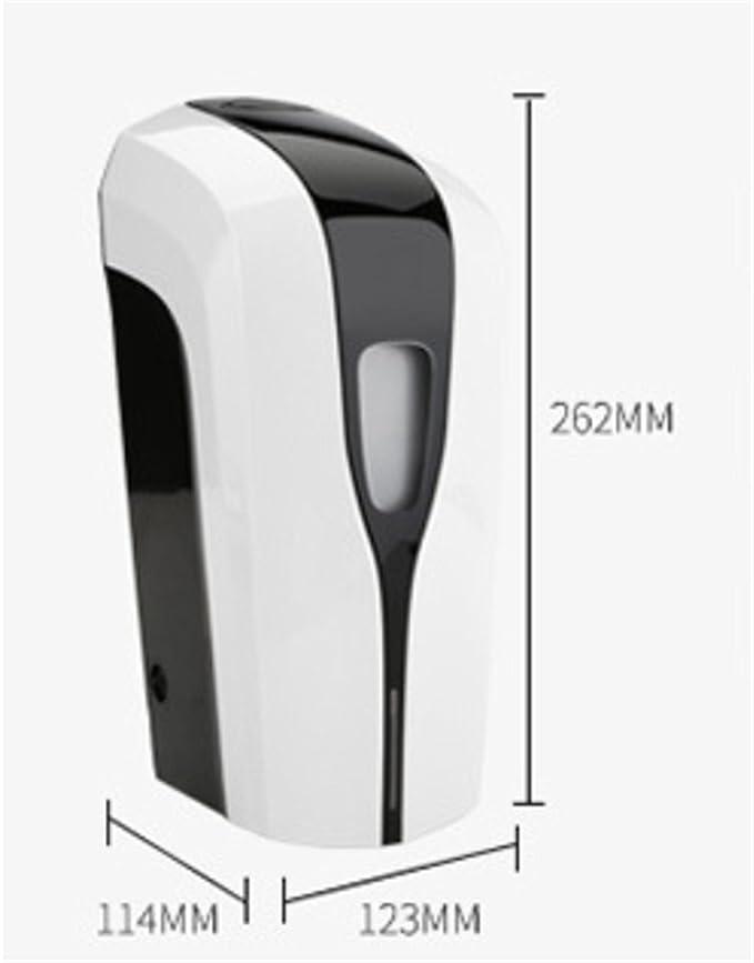 Dispensador de jabón Jabón automático 1000ml Batería de plástico desinfectante Hotel montado en la pared Hospital casero transparente Detección infrarroja ...