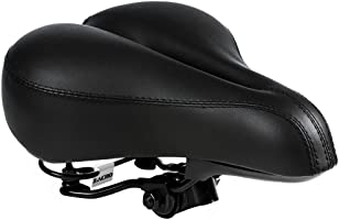 Zacro Gel Bike Saddle - BS053 Dual Spring Designed Suspension Artificial Leather Bike Seat Bicycle Saddle with 1...