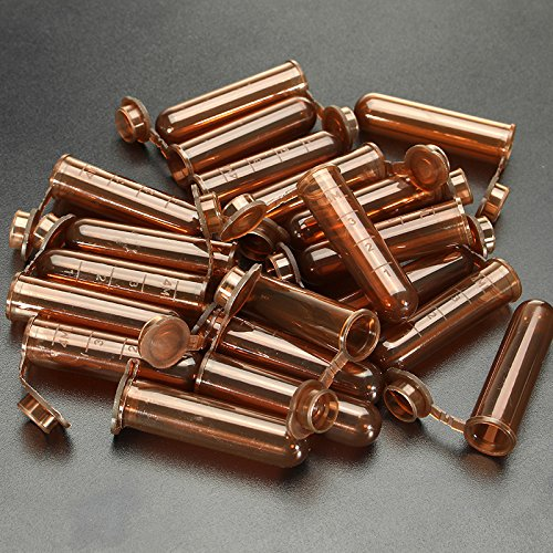 20Pcs 5mL Round Bottom Centrifuge Tube Graduated Brown Polypropylene EP Tube by krit lab
