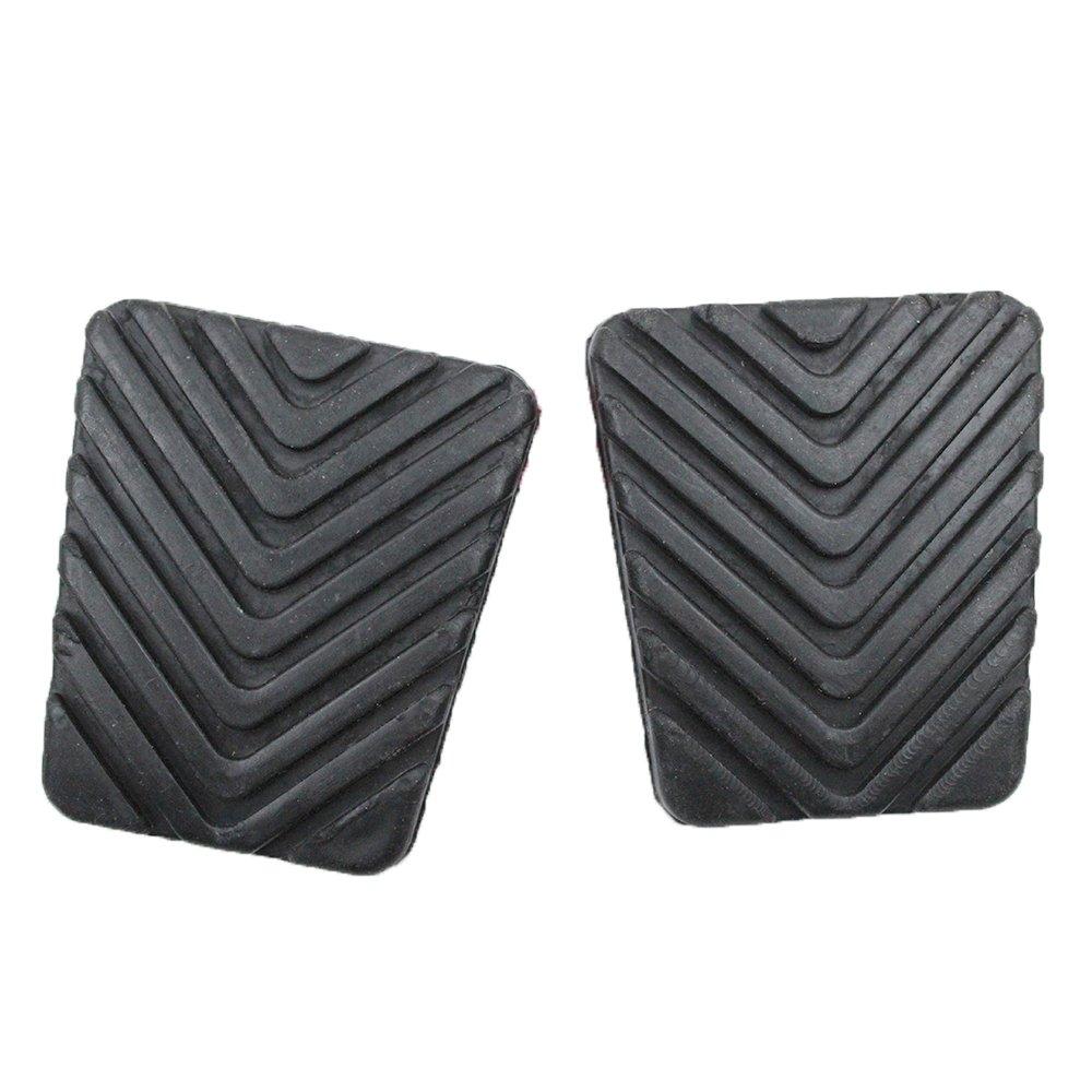koauto 2 Pcs Black Rubber Brake Clutch Pedal Pad for Hyundai 32825-36000