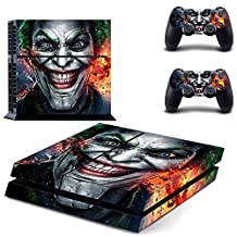 CAN PS4 Console Designer Protective Vinyl Skin Decal Cover for Sony PlayStation 4 & Remote DualShock 4 Wireless Controller Stickers - Batman Joker